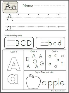 Free Alphabet Letter A Writing Practice.