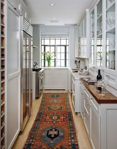 day 2: 31 days of favorite spaces – a favorite kitchen.  How to make a galley kitchen not look dark.