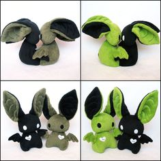 I'm Batty About You by *melkatsa on deviantART.  Kissing bat plushies with magnets