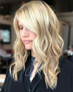 New Trustworthy Long Blonde Wavy Hairstyle Ideas Worth Checking Out Hair Color Balayage, Blonde Balayage, Pretty Hairstyles, Hairstyle Ideas, Blonde Wavy Hair, New Hair, Long Hair Styles, Beauty, Balayage Hair Colour
