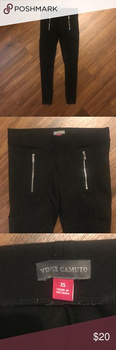Vince Camuto Leggings Super cute leggings with zipper detail. Perfect for weekend or work wear. Easy to dress up or down. Only worn a few times and in great condition. Runs a little big. Mid - high rise fit. Pants Leggings