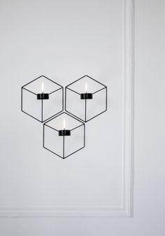 Menu - POV candleholder wall - warm grey - GRATIS FRAGT