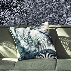 Palm leaf cushion – Home Tropical Style, Store Online, Lust, Palm, Cushions, Leaves, Concept, Throw Pillows, Toss Pillows