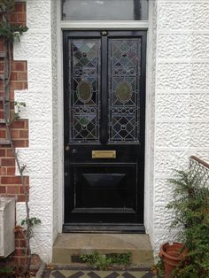 Victorian stain glass front door in Bradford West Yorkshire England. & Art Deco door in Bradford Edwardian   House Design Ideas ... pezcame.com