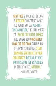 Gratitude makes good things happen!