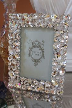 Find Olivia Riegel Roxy Swarovski Crystal Photo Frame 5 x 7 online. Shop the latest collection of Olivia Riegel Roxy Swarovski Crystal Photo Frame 5 x 7 from the popular stores - all in one Picture Frame Crafts, Vintage Picture Frames, Decorated Picture Frames, Photo Frame Design, Jewelry Frames, Vintage Jewelry Crafts, Diy Home Crafts, Diy Frame, Creations