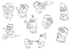 In This Beautiful Picture Stuart Is Playing Guitar Print And Color This Free Minions Coloring