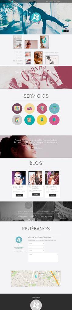 Página web en Paralax de la agencia de publicidad especializada en el sector de la moda Stralf.