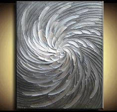 Abstract Textured Painting 34 x 44 Custom Original by artoftexture