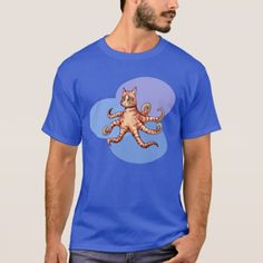 Shop Octopus-sy Cat T-shirt created by Personalize it with photos & text or purchase as is! Dark Colors, Octopus, Tshirt Colors, Fitness Models, Unisex, Cats, Casual, Sleeves, Cotton