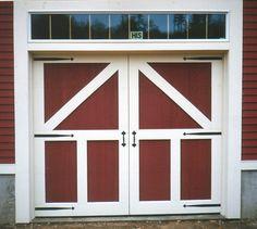 Building Shed Doors | Hinges, hardware and design give this door the classic barn door look ...