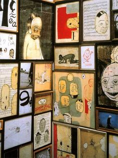 Barry McGee: Total inspiration for our entry way/hall