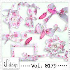 Vol. 0179 - Floral Ribbons Mix  by Doudou's Design  #CUdigitals cudigitals.comcu commercialdigitalscrapscrapbookgraphics #digiscrap