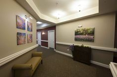 Hallway installation. Infused aluminum and canvas by Larry Kanfer #installation #artwork #decor