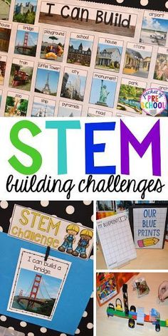 STEM I Can Build and STEM Drawers – Pocket of Preschool STEM building challenges for preschool, pre-k, kindergarten, and first grade. Simple, easy to implement STEM activities even if you have a small classroom. Stem Science, Preschool Science, Kindergarten Classroom, Science Space, Life Science, Preschool Centers, Science Fair, Earth Science, Computer Science
