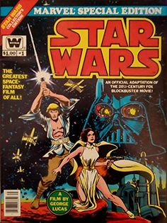 Marvel Special Edition - Star Wars - Whitman Variant - 1978 Treasury Edition by Roy Thomas Star Wars Comic Books, Star Wars Comics, Marvel Comic Books, Star Wars Toys, Comic Books Art, Comic Art, Star Wars Pictures, Star Wars Images, Book Cover Art