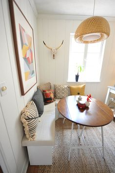 DIY Breakfast Nook Reveal - Before + After // A New Bloom