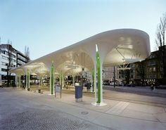 Canopy Streetcar and Busstop, Münchner Freiheit, Munich