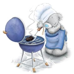Tatty Teddy and summer grilling Teddy Images, Teddy Pictures, Bear Pictures, Cute Images, Cute Pictures, Tatty Teddy, Kit Bebe, Blue Nose Friends, Bear Illustration