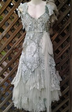 "20% OFF boho wedding dress formal brides maid bohemian lagenlook gyspy vintage .medium to 40"" bust.."
