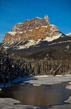 Castle Mountain, Alberta, Canada. I used to work at a resort at the foot of this mountain.