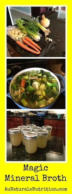 Magic Mineral Broth - an internal spa treatment! Perfect for recovering from illness or every day! Paleo Recipes, Soup Recipes, Whole Food Recipes, Low Carb Recipes, Cooking Recipes, Free Recipes, Healthy Life, Healthy Snacks, Healthy Eating