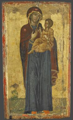 Odigitria Bisanzio Vatopedi XIV sec. Byzantine Icons, Byzantine Art, Religious Icons, Religious Art, Paint Icon, Russian Icons, Blessed Mother Mary, Best Icons, Africa Map