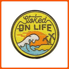 Asilda Store Stoked on Life Embroidered Sew or Iron-on Patch - Dont forget to travel (*Amazon Partner-Link)