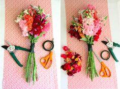 DIY Farmer's Market Bouquet - Buy long-stemmed snapdragons to make your own bouquet. Wedding Vendors, Wedding Blog, Diy Wedding, Wedding Ideas, Diy Bouquet, Flower Bouquet Wedding, Boquet, Flower Cart, Flower Arrangements
