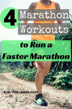 Do you want to run a faster marathon? These marathon workouts can help you improve your strength, speed, and confidence to improve your marathon time. #runfaster #marathonrunning #marathontraining