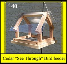 Cedar See Through Bird Feeder