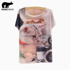 T-shirt New Fashion Summer Harajuku Animal Cat Print Shirt Thin style batwing Sleeve T Shirt Women Tees Top WOW http://www.lady-fashion.net/product/waibo-bear-2017-t-shirt-new-fashion-summer-harajuku-animal-cat-print-shirt-thin-style-batwing-sleeve-t-shirt-women-tees-top/ #shop #beauty #Woman's fashion #Products