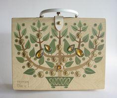 Enid Collins Wooden Purse  Box Purse  Money Tree II by CraZyDreamZ, $89.00