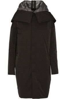 Rick Owens Shell hooded coat | THE OUTNET