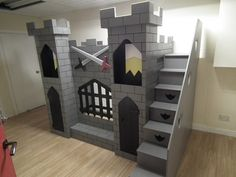 Exceptionnel Boys Knightu0027s Castle Themed Bed U2013 Dreamcraft Furniture