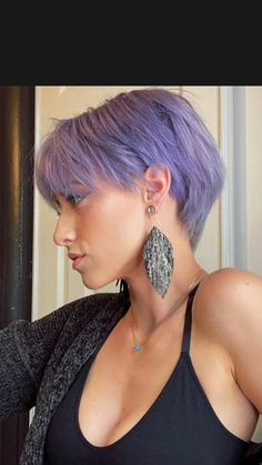 Very Short Hair, Short Wavy Hair, Short Pixie, Short Hair Styles, Pixie Hairstyles, Pixie Haircut, Cool Hairstyles, Pixie Hair Color, Razor Cut Hair