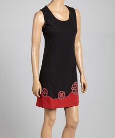 Black Scoop Neck Shift Dress | Daily deals for moms, babies and kids