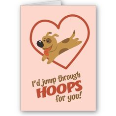 jump through hoops valentines day holiday card - Dog Valentines Day Cards
