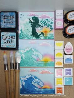 Jumping into the Waves – Just Be Happy cards Hero Hero Hero, Joann Crafts, The Ton Stamps, Pink Dye, Tim Holtz Distress Ink, Beach Cards, Just Be Happy, Distress Oxide Ink, Fun Challenges