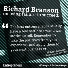 Richard Branson's advice on how to handle failure in business. #entrepreneur