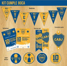 #Boca #decoracion #cumple #futbol #kit #fiesta #invitaciones #diseño #tarjetas… Ideas Para Fiestas, Dreamworks, Party Themes, Baby Shower, Neon, Football Shirts, Invitations, Ideas Party, Babyshower