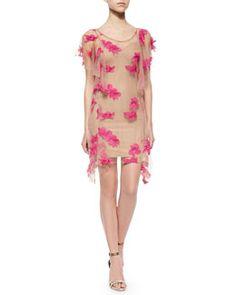 T9GME For Love & Lemons Orchid Short-Sleeve Mini Dress