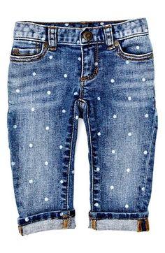 Darling polka dot baby girl jeans