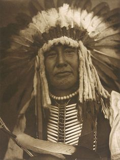 american memory collection photographs | Edward S. Curtis, Yellow Owl, Mandan , Photogravure on vellum, 1908.