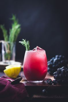 grape, rosemary + gin crush.