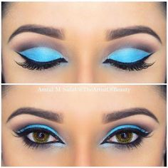 Sky Blue Cut Crease from #theartistofbeauty