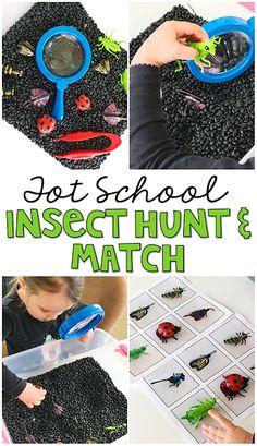 We loved exploring this  insect themed sensory bin perfect in tot school, preschool, or kindergarten.