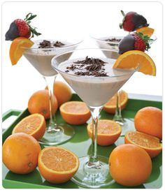 ingredients  2 ounces mandarin orange-flavored vodka,  2 ounces DOVE CHOCOLATE DISCOVERIES™ (DCD) Chocolate Martini Mix,  1 ounce Irish Cream,  1 ounce light cream or half and half,  1 cup ice, Optional garnishes:,   Chocolate-covered strawberry,  DCD Chef Series Dark Chocolate,   Chocolate-covered pretzel rod  PREPARATION  1. Shake the vodka, martini mix, Irish Cream and light cream in a martini shaker with ice to chill.  2. Pour into a 12-ounce martini glass, and garnish as desired.