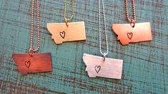 Montana love necklace by HattieRex on Etsy, $16.00