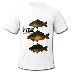 "T-shirt ""Born to fishwith MFT® "" - Représente vos trois carpes favorites."